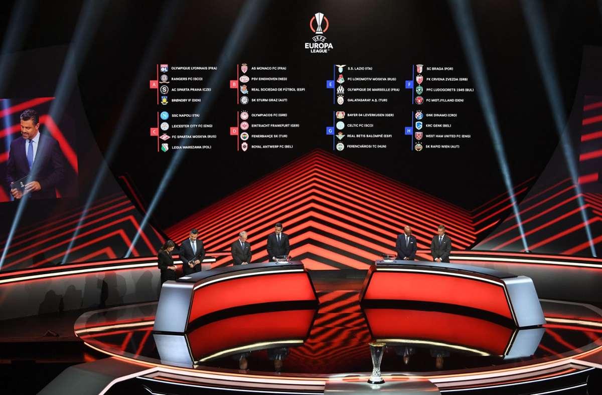 Am Freitag wurde die  Gruppenphase der Europa League ausgelost. Foto: AFP/OZAN KOSE
