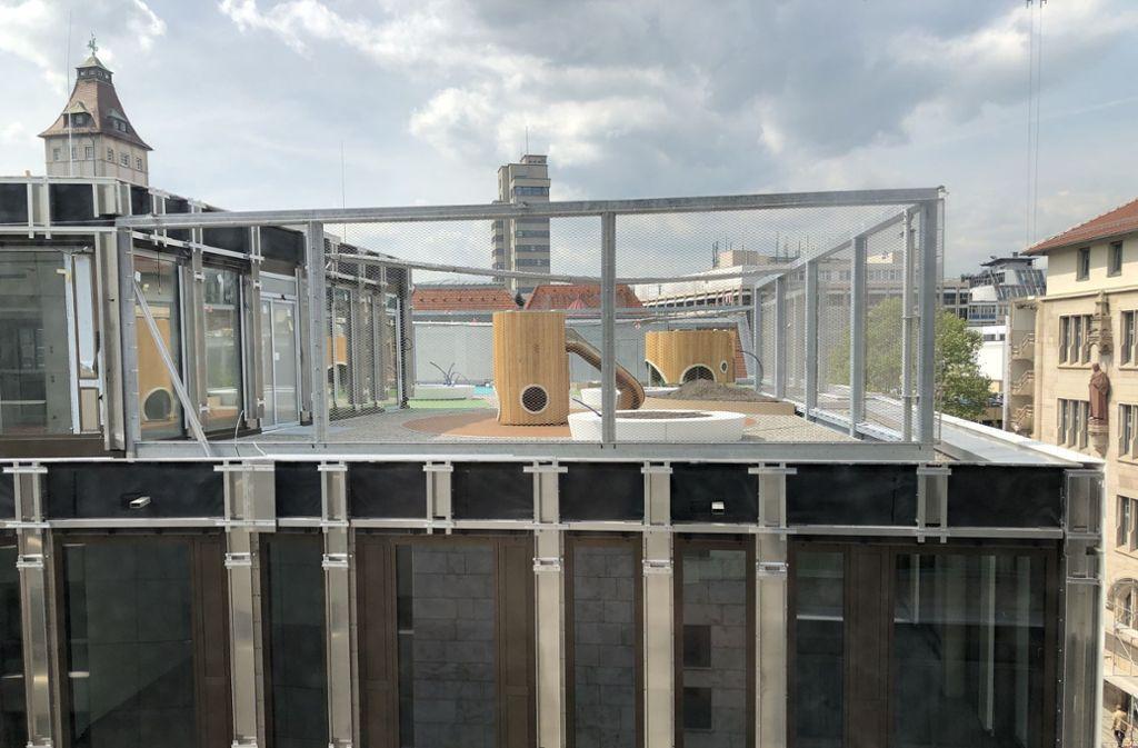 Kita   fast über den Wolken: Im vierten Obergeschoss der neuen Rathausgarage kommt eine Kindertagesstätte  unter. Foto: Martin Haar