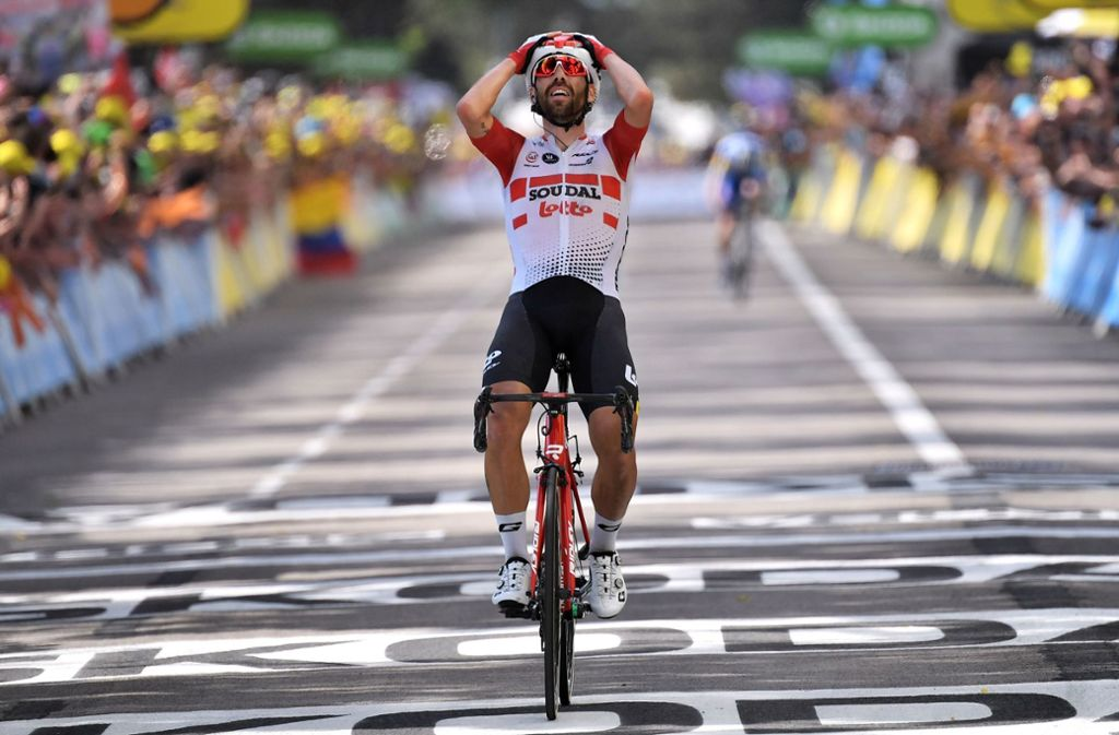 Thomas de Gendt hat die achte Etappe der Tour de France gewonnen. Foto: AFP