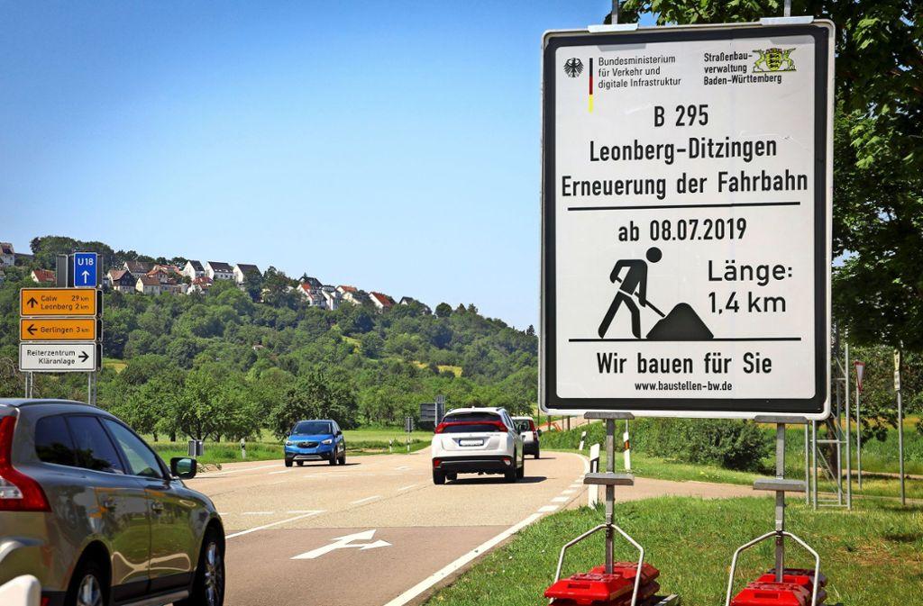 Am 8. Juli starten die Bauarbeiten auf der Bundesstraße  295  und dauern voraussichtlich bis Mitte Oktober. Foto: factum/