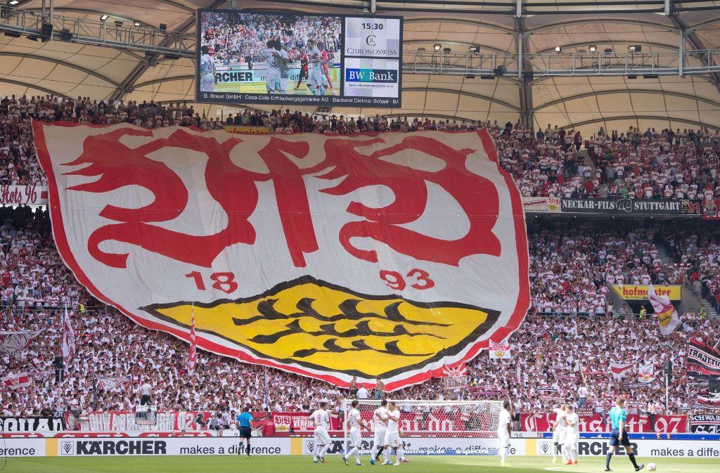 Die Fans des VfB Stuttgart stehen weiterhin mit vollem Rückhalt hinter ihrem Team. Foto: dpa