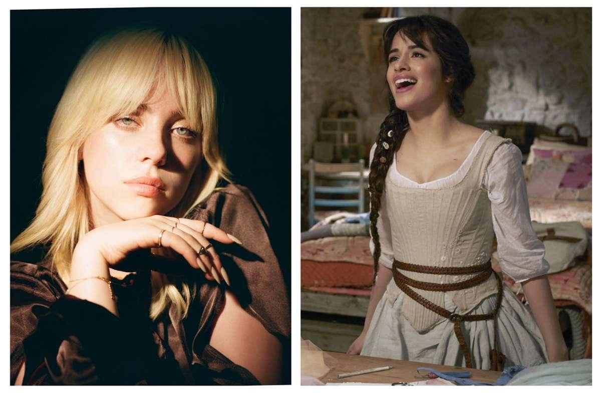 Filmduell: Billie Eilish (links) gegen Camila Cabello Foto: Disney+/Amazon Prime
