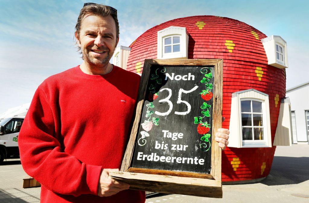 Der Erdbeer-Anbauer Robert Dahl in Mecklenburg-Vorpommern weist auf das Problem hin, das in der Landwirtschaft flächendeckend erwartet wird. Foto: dpa/Bernd Wüstneck