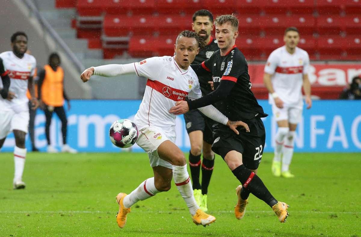 Das Spiel des VfB Stuttgart in Leverkusen war abwechslungsreich, torreich und wurde im Nachgang entsprechend vielfältig aufgearbeitet. Foto: Baumann