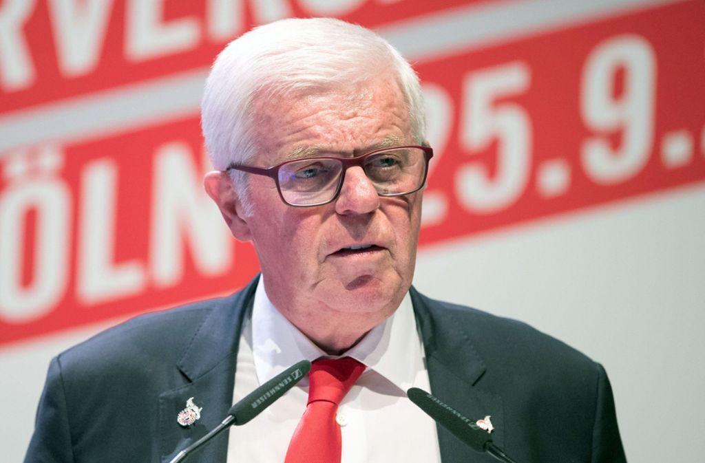 Präsident Werner Spinner schmeißt beim 1. FC Köln hin. Foto: dpa