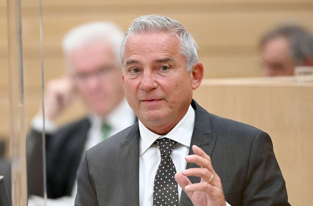 Für  Innenminister Thomas Strobl kommt eine Impfpflicht nicht in Frage. Foto: dpa/Bernd Weissbrod/Archiv