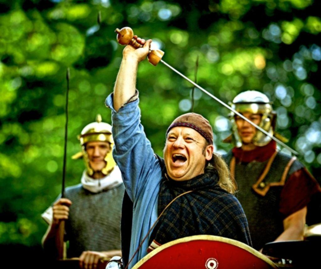 Alamannen und römische Legionäre – beim Limesfest friedlich vereint Foto: Gottfried Stoppel