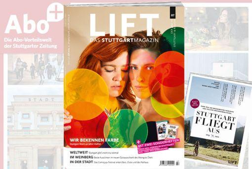 12x das Stuttgartmagazin LIFT und dazu das neue STUTTGART FLIEGT AUS