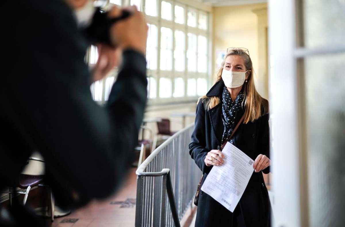 Veronika Kienzle, die OB-Kandidatin der Grünen, hat sich angeblich festgelegt: Sie tritt in der zweiten Runde nicht mehr an. Foto: Lichtgut/Max Kovalenko
