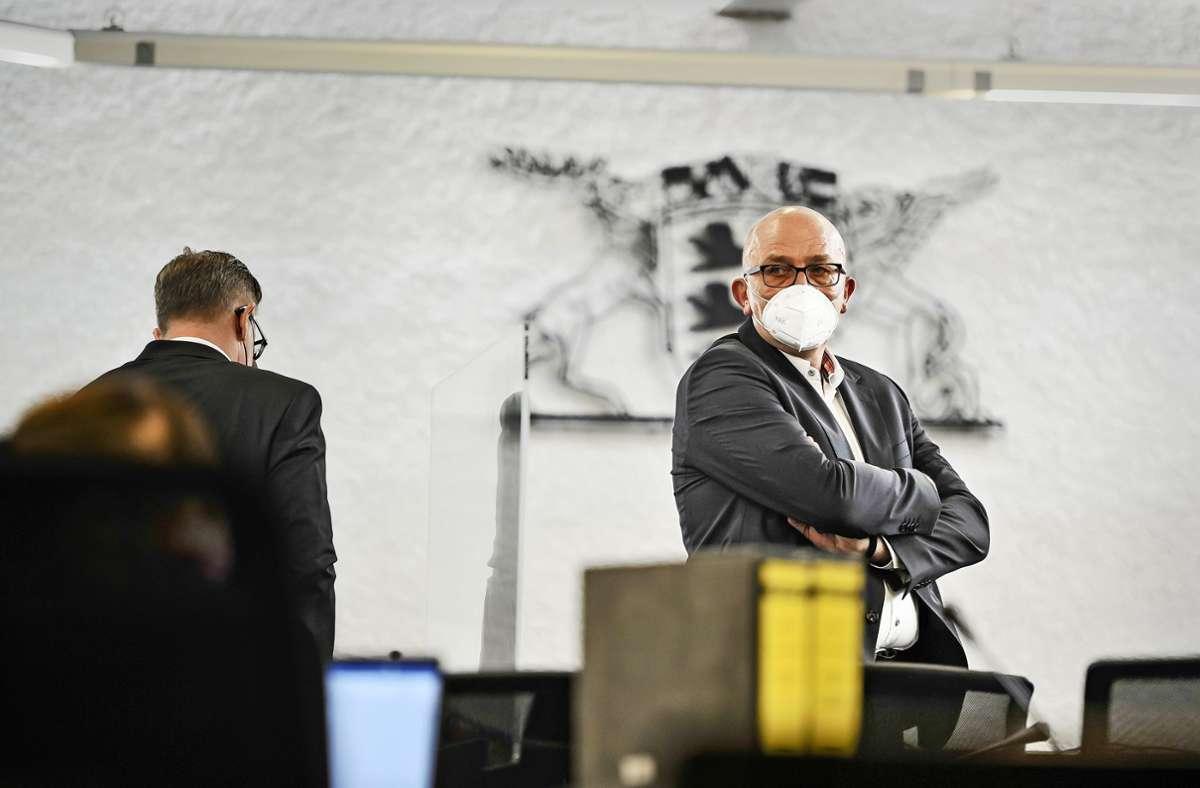 Andreas Braun wird im Klinikum-Prozess als Zeuge befragt. Foto: Lichtgut/Max Kovalenko