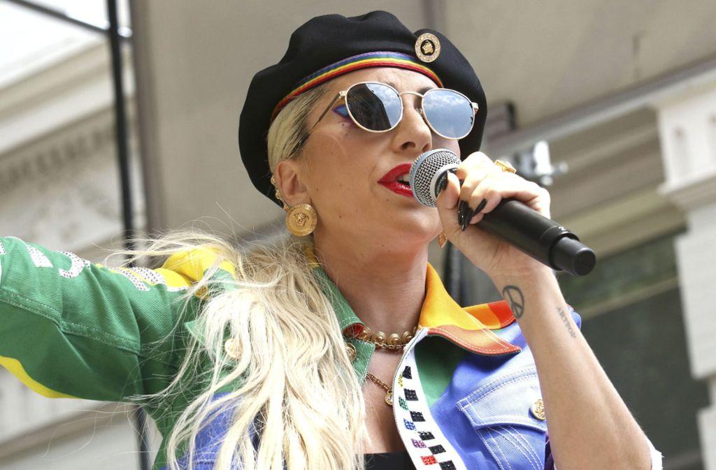 Unauffälliges Styling ist eher nicht ihr Ding: Lady Gaga Foto: dpa/Greg Allen