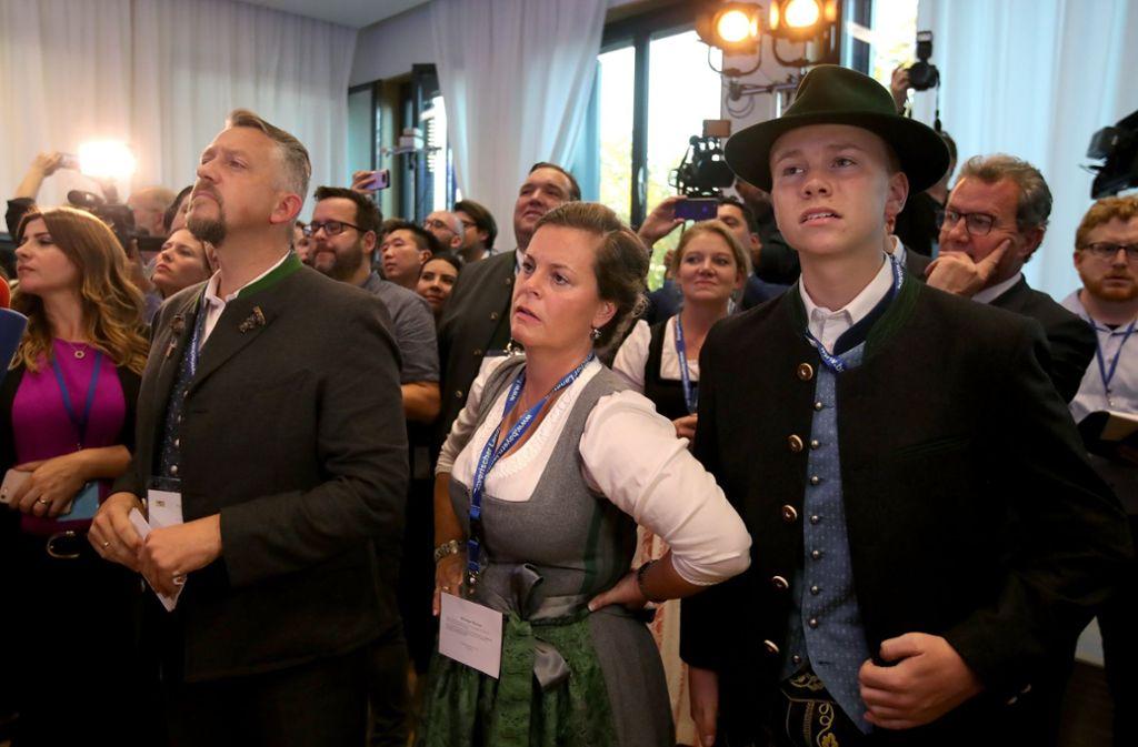 Anhänger der CSU sind enttäuscht über die Wahl. Foto: Getty Images Europe