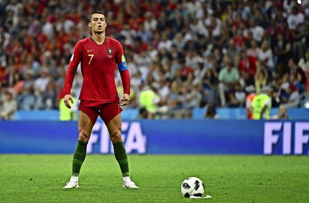 Auf Standards muss man sich  vorbereiten – das weiß auch Cristiano Ronaldo. Foto: AFP