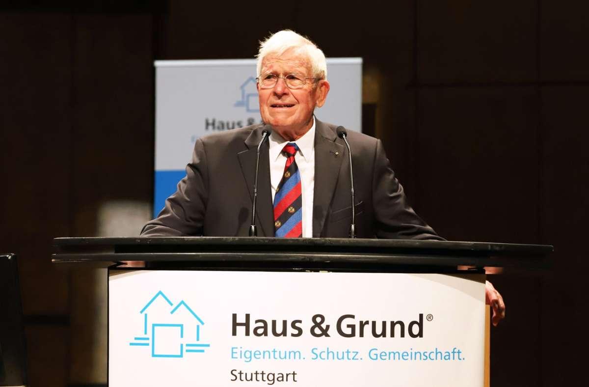 """Haus-und-Grund-Vereinsvorsitzender Klaus Lang sagt, """"die Luft für das Privateigentum wird dünner und kälter"""". Foto: Haus und Grund"""