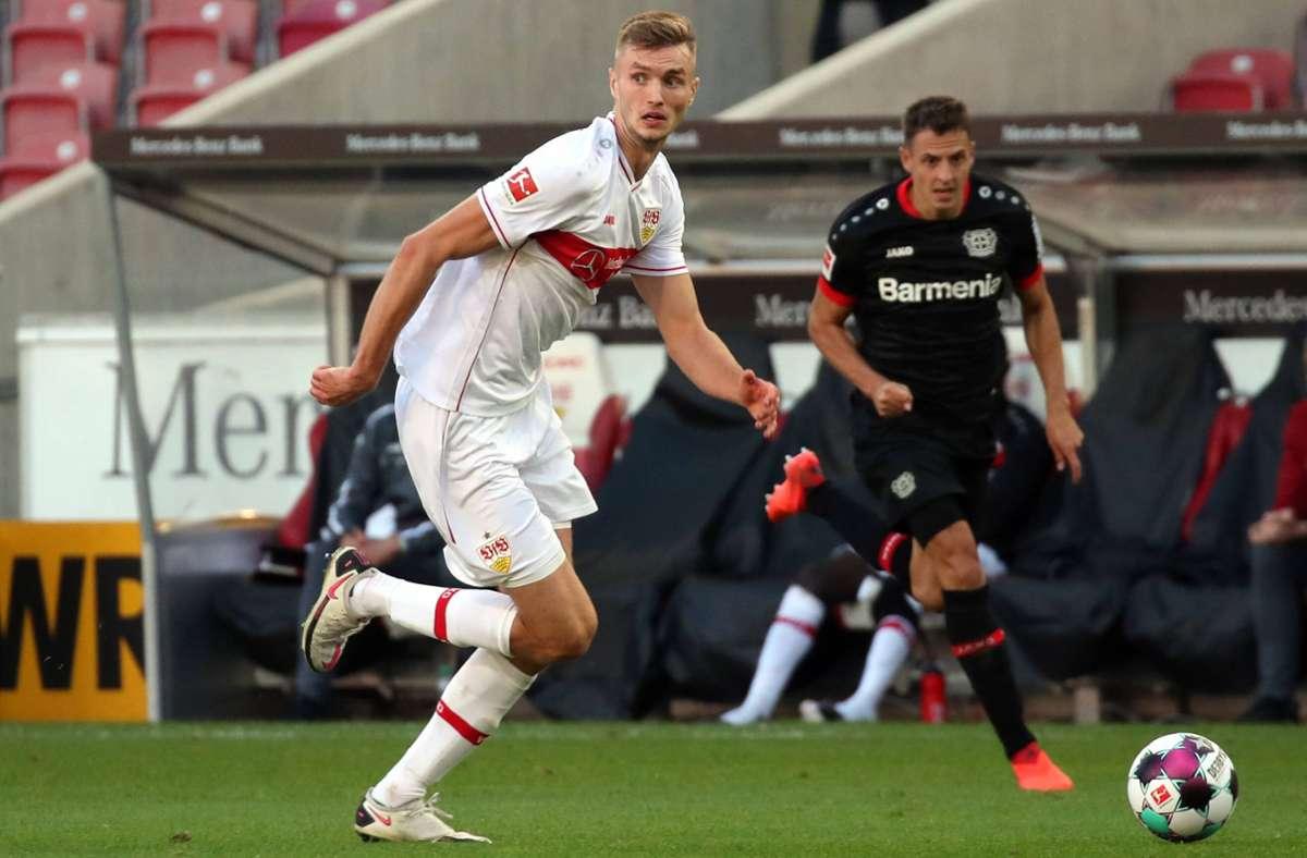 VfB-Stürmer Sasa Kalajdzic hat gegen Freiburg, Mainz und Leverkusen je ein Tor erzielt. Foto: imago