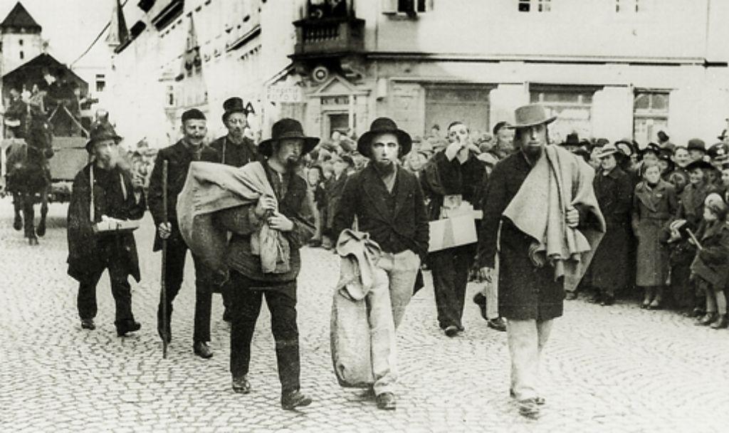 """Der angebliche """"Zug bereicherungswilliger Betteljuden"""" in Villingen: derlei  Verunglimpfungen waren während der Nazizeit bei vielen Zünften an der Tagesordnung Foto: Zimmermann"""