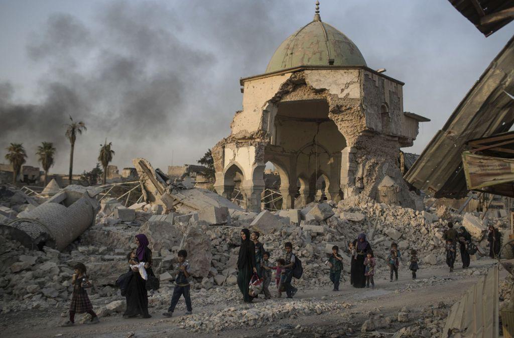 Der Islamische Staat ist auch in Syrien geschlagen. Viele Anhänger sind im Irak inhaftiert. Foto: AP