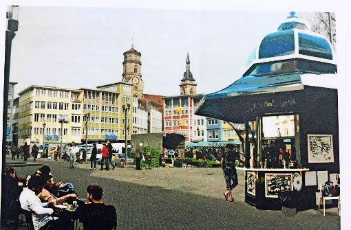 Ein Café-Pavillon für den Marktplatz?