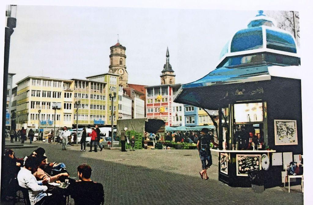 So stellt    sich   die SPD im Bezirksbeirat Mitte   ein Café-Pavillon auf dem Marktplatz in Stuttgart vor Foto: Vinçon