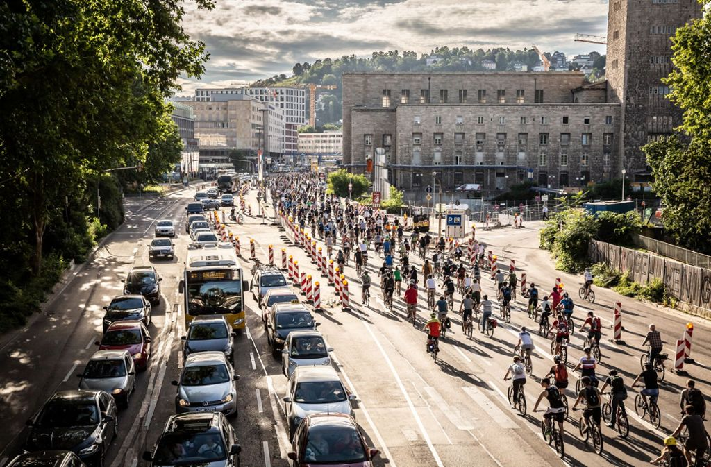 So viel Raum gibt es nur zur Critical Mass. Foto: Lichtgut/Julian Rettig