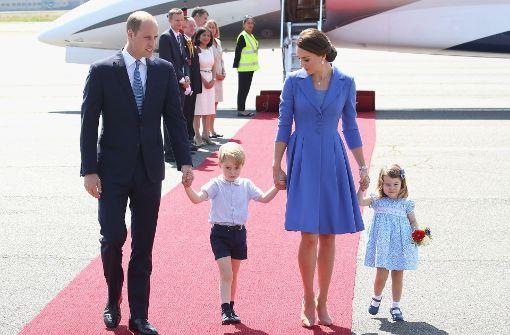 Kate und William in Berlin gelandet