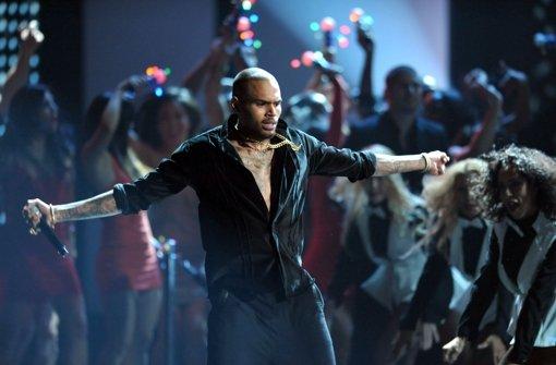 US-Sänger Chris Brown tritt in Stuttgart ohne Kay One als Voract auf. Foto: dapd