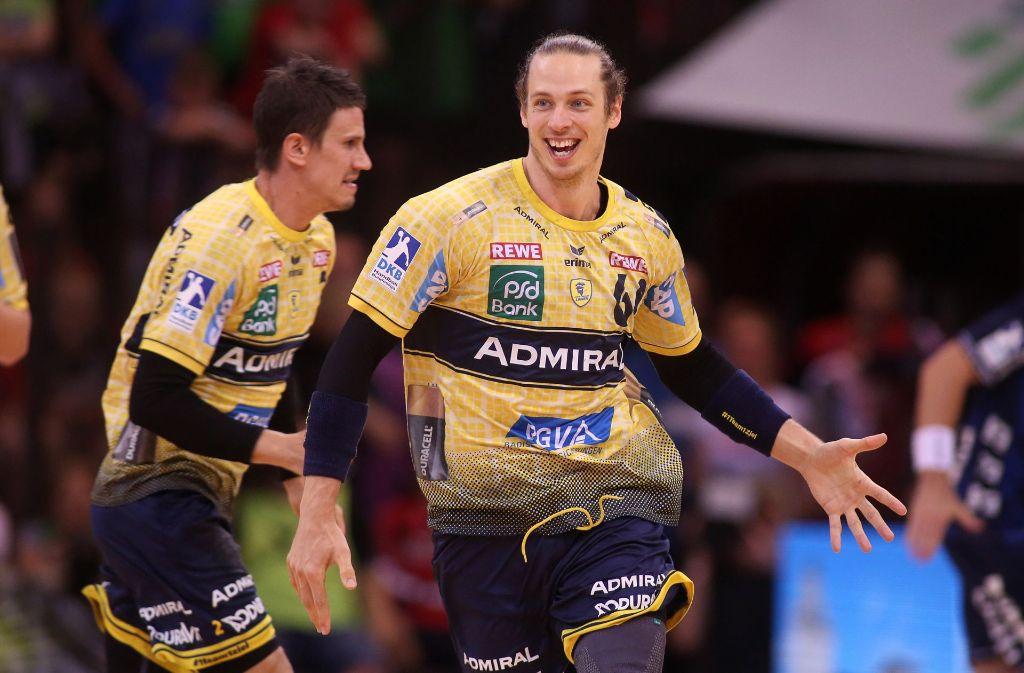 Die Rhein-Neckar Löwen gewannen das direkte Duell um den Titel in Flensburg. Foto: Bongarts