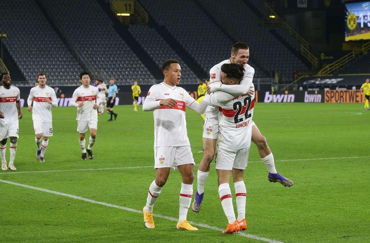 Der 5:1-Sieg bei Borussia Dortmund war eines der sportlichen Höhepunkte des Aufsteigers. Foto: Pressefoto Bauman/Hansjürgen Britsch