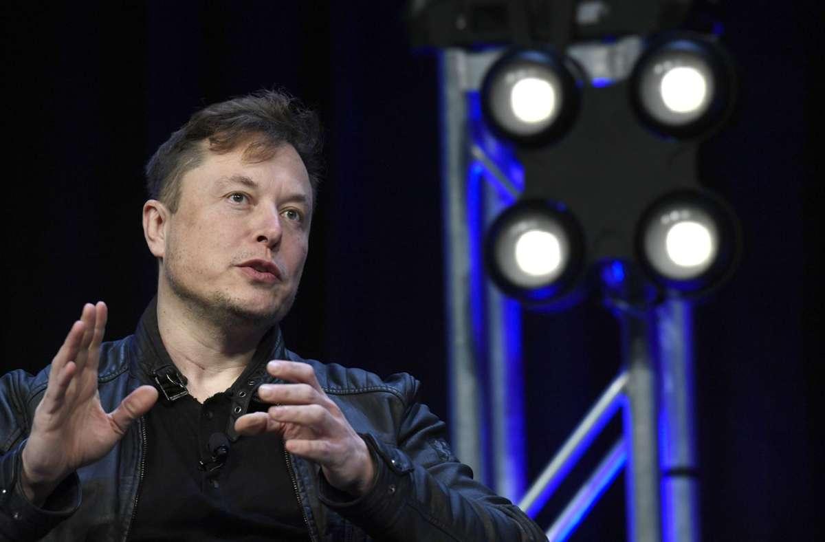 Elon Musk verkauft einen Technosong. (Archivbild) Foto: dpa/Susan Walsh