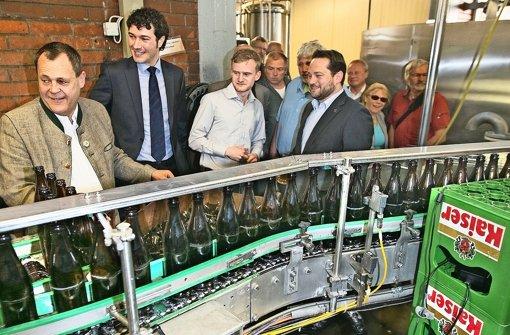 """Auch der Minister setzt  aufs """"g'scheite Bier"""""""
