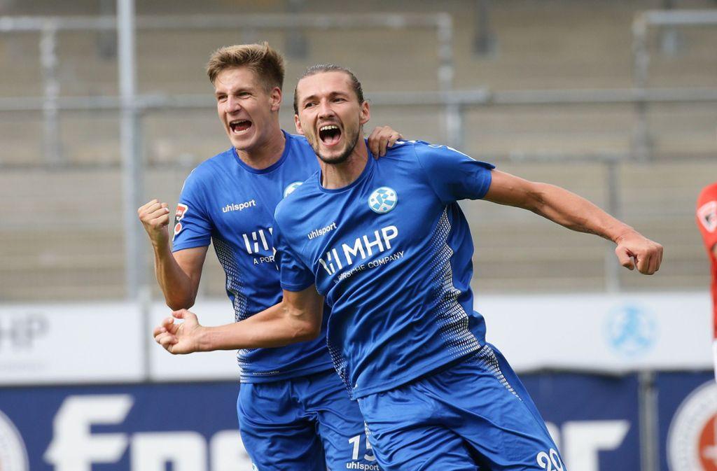 Die Stuttgarter Kickers haben den Göppinger SV mit 2:0 besiegt. Foto: Pressefoto Baumann