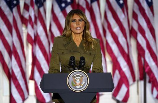 First Lady geht in ihrer Rede auf Corona und Rassismus ein