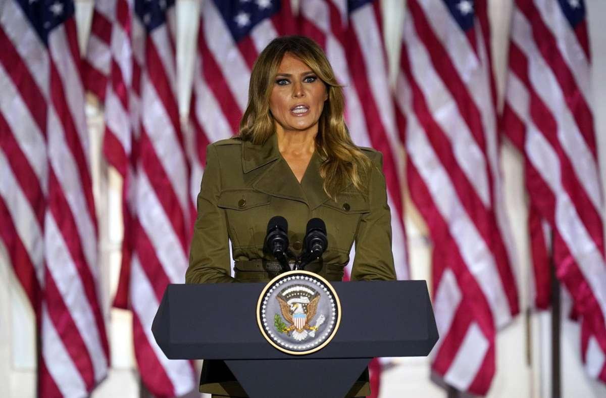 Melania Trump warb für eine zweite Amtszeit ihres Mannes. Foto: dpa/Evan Vucci