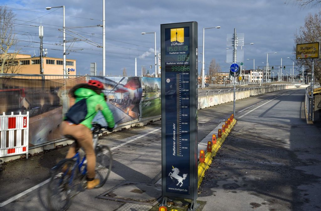 Zählstelle auf der Neckarbrücke beim Leuze Foto: Lichtgut/Max Kovalenko