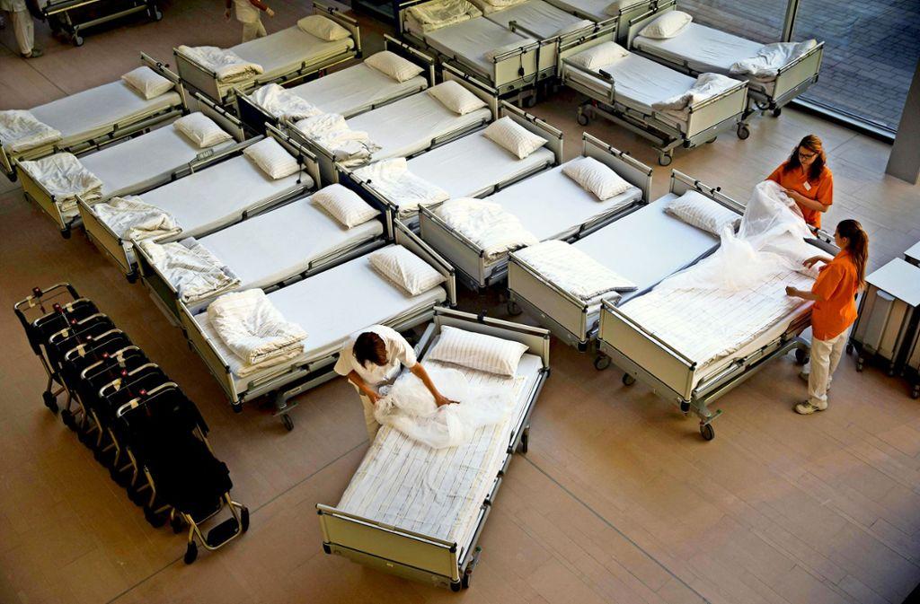 Für die Klinik in Winnenden sind fast 100 neue Planbetten genehmigt worden. Foto: Gottfried Stoppel/Archiv