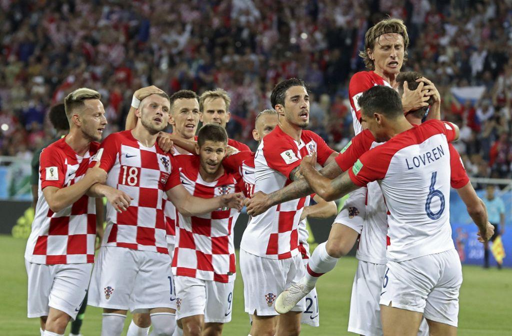 Ein Eigentor und ein Elfmeter reichten den Kroaten zum Sieg gegen Nigeria. Foto: AP