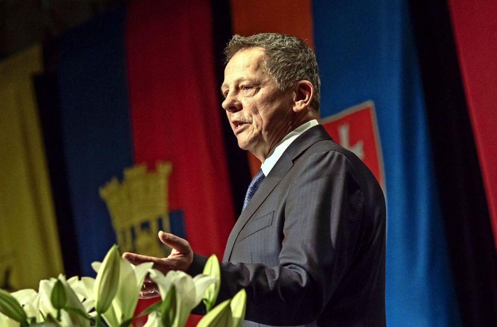 Beim Neujahrsempfang erklärte Brenner am Sonntag völlig überraschend seinen Rücktritt zum Jahresende Foto: factum/Weise