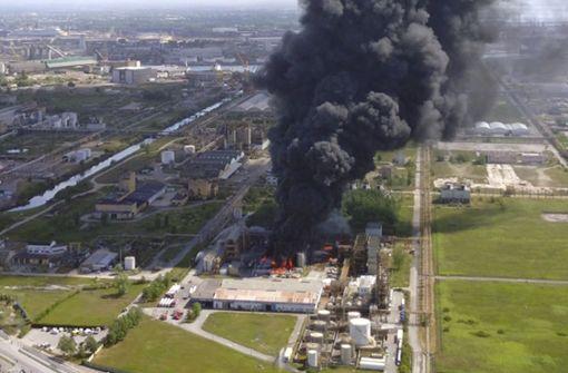 Explosion in Chemiefabrik in Venedig