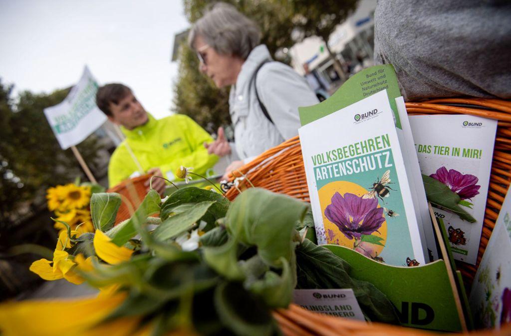 Kampagne der Bienen-Retter in Stuttgart Foto: Marijan Murat/dpa/Marijan Murat