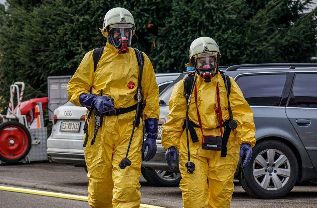 Wegen giftiger Dämpfe wurde eine Firma in Köngen geräumt. Foto: SDMG