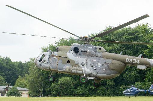 Helikoptersuche nach radioaktiven Verstecken