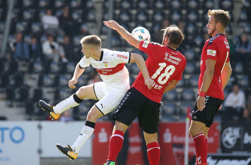 Neuzugang Santiago Ascacibar bestritt sein erstes Spiel für den VfB Stuttgart. Foto: Pressefoto Baumann