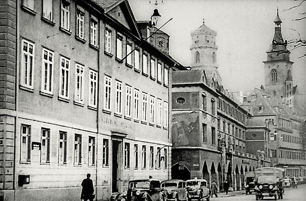 Der Widerständler Anton Hummler saß im Hotel Silber ein. Das Bild zeigt die Dorotheenstraße 6 und die Markthalle. Das Hotel Silber befand sich in der Dorotheenstraße 10. Foto: privat