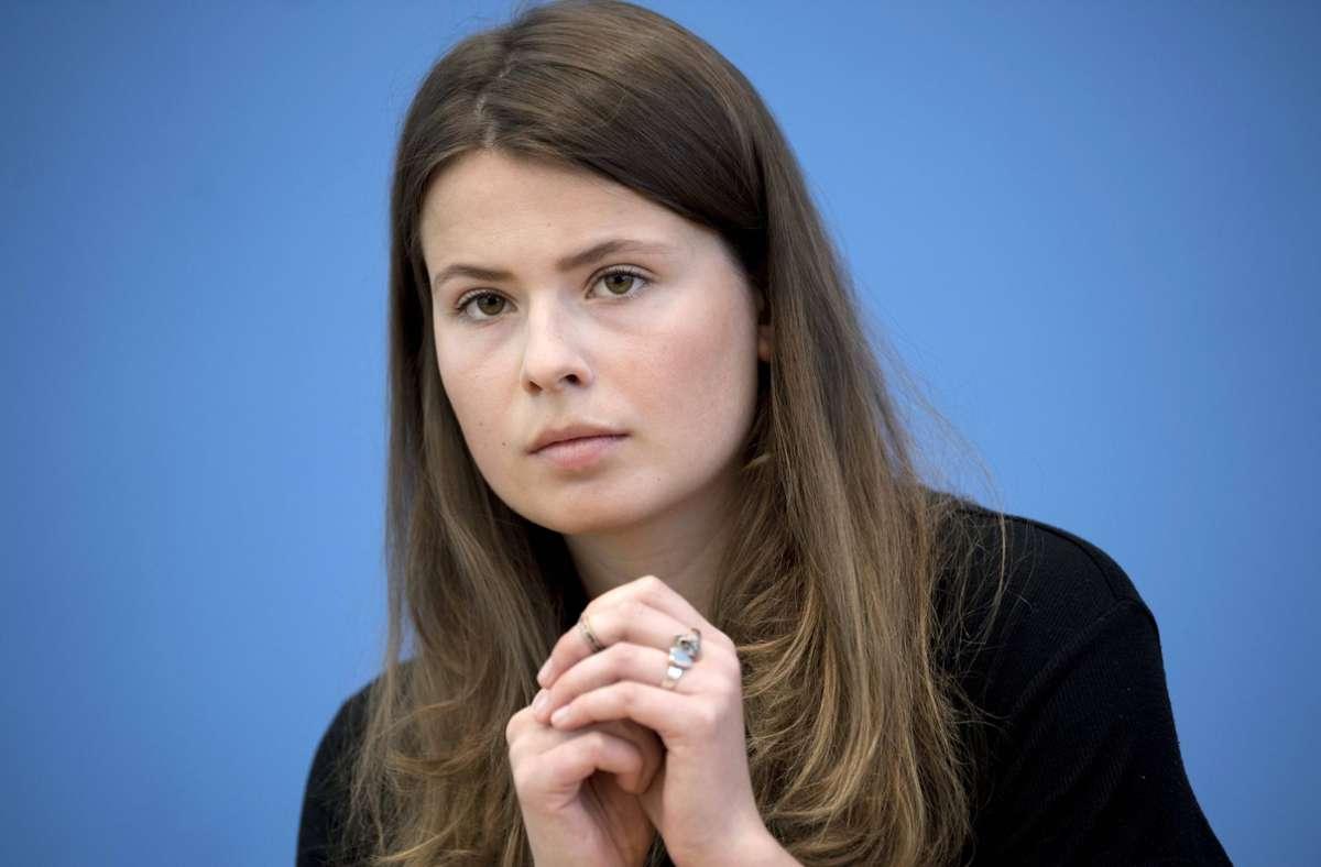 Luisa Neubauer kritisiert die Klimaschutzpläne der Union scharf. Foto: imago images/IPON/Stefan Boness/Ipon
