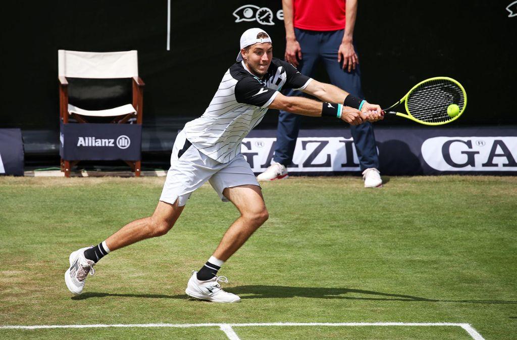 Unglücksrabe: Struff hat bisher alle sieben Halbfinals bei einem ATP-Turnier verloren. Foto: Pressefoto Baumann