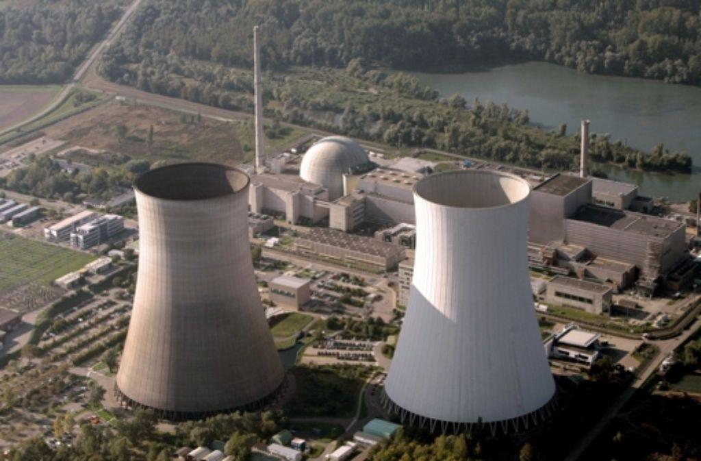 Luftaufnahme des Kernkraftwerks Philippsburg Foto: dpa