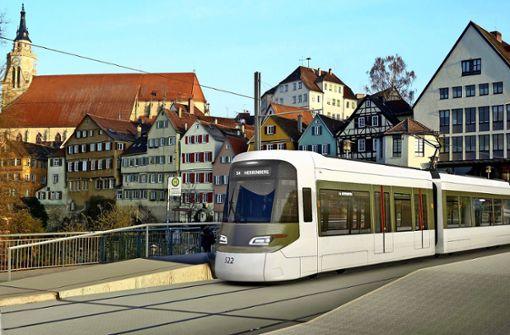 Acht Kilometer Schiene spalten Tübingen