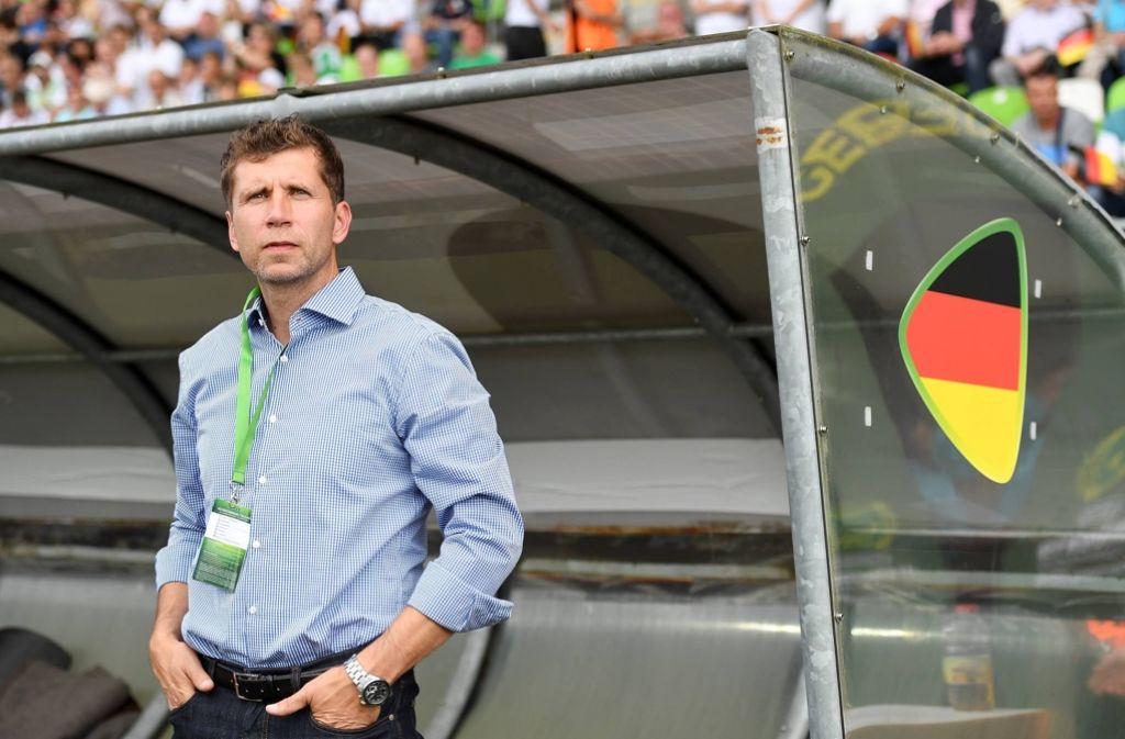 Der deutsche U-19-Trainer Guido Streichsbier ist nachdenklich.Foto:Baumann Foto: