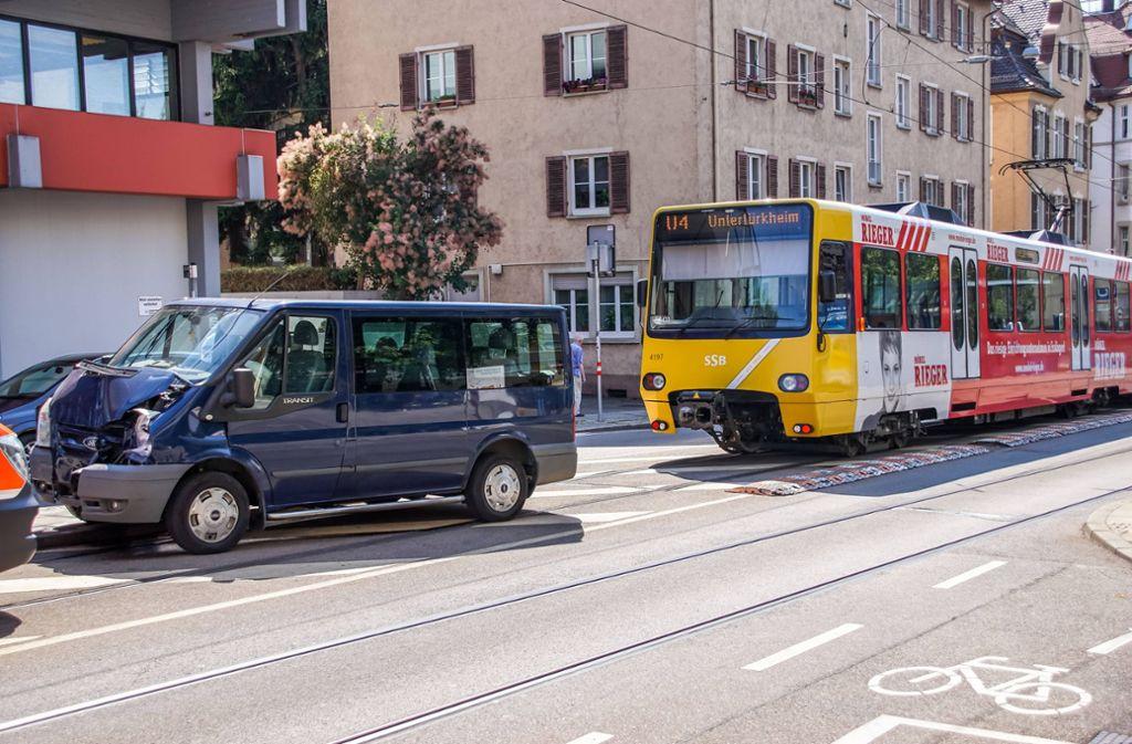Die Linie U4 musste wegen des Unfalls bremsen ... Foto: 7aktuell.de/Andreas Werner