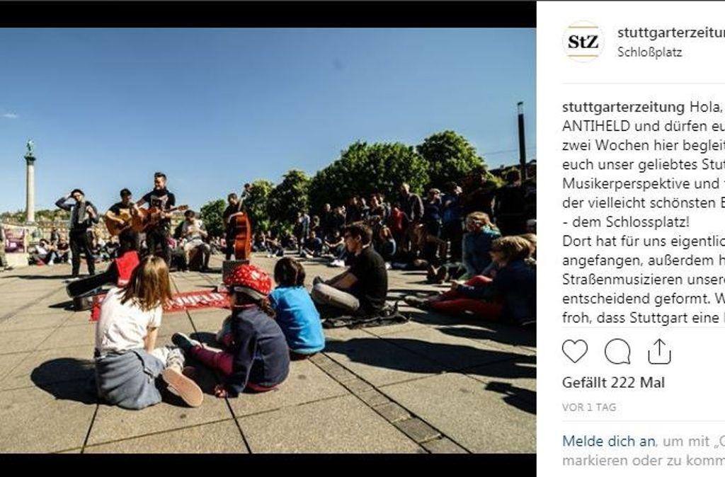Für zwei Wochen übernimmt die Band Antiheld den StZ-Instagram-Kanal Foto: StZ bei Instagram